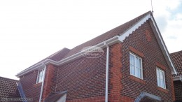 UPVC white convex swish fascia