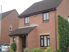 brown round guttering installation swindon