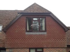 installation rosewood upvc fascia soffit black square guttering wiltshire