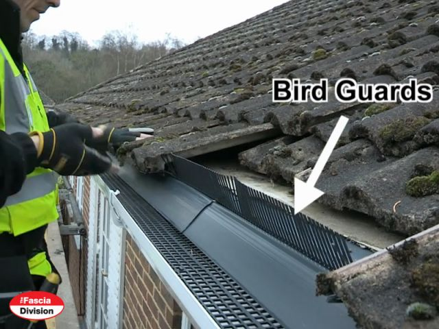 bird guards being -fitted
