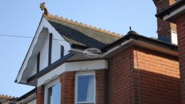 Mock tudor Replica Wood boards with decorative fascias and white soffit
