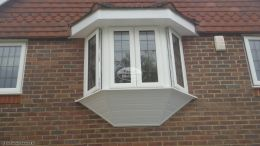 new UPVC shiplap cladding to bay window