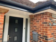 Anthracite guttering and fascia