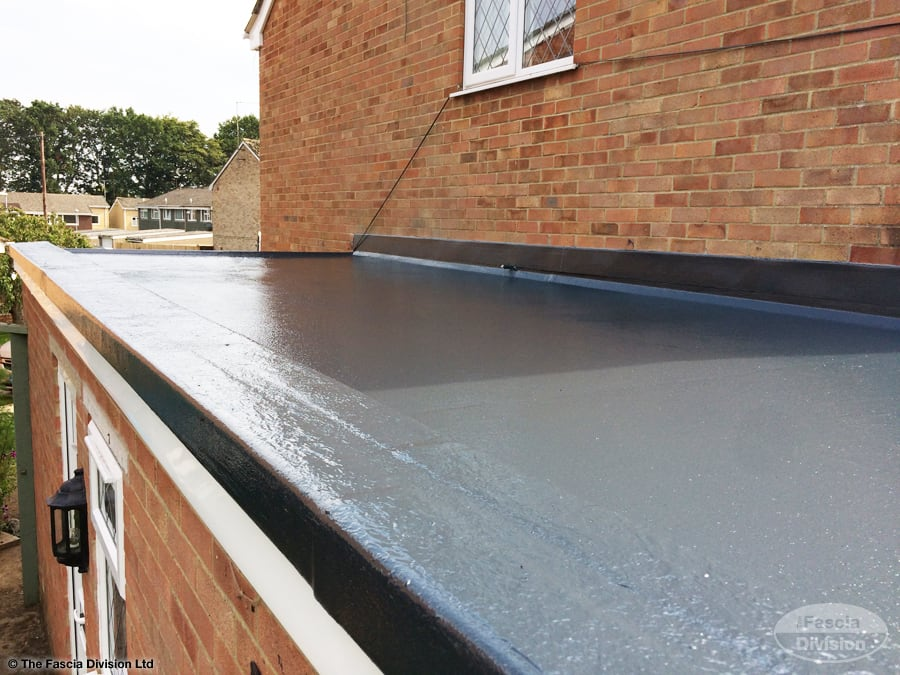 GRP roofing on a flat roof - Chippingham