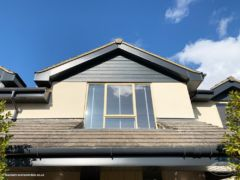 Anthracite Hardieplank cladding, fascias, soffits and guttering