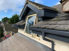 Anthracite UPVC guttering, fascias and soffits