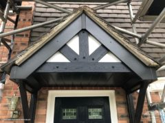 Black replacement mock tudor boards with black fascias